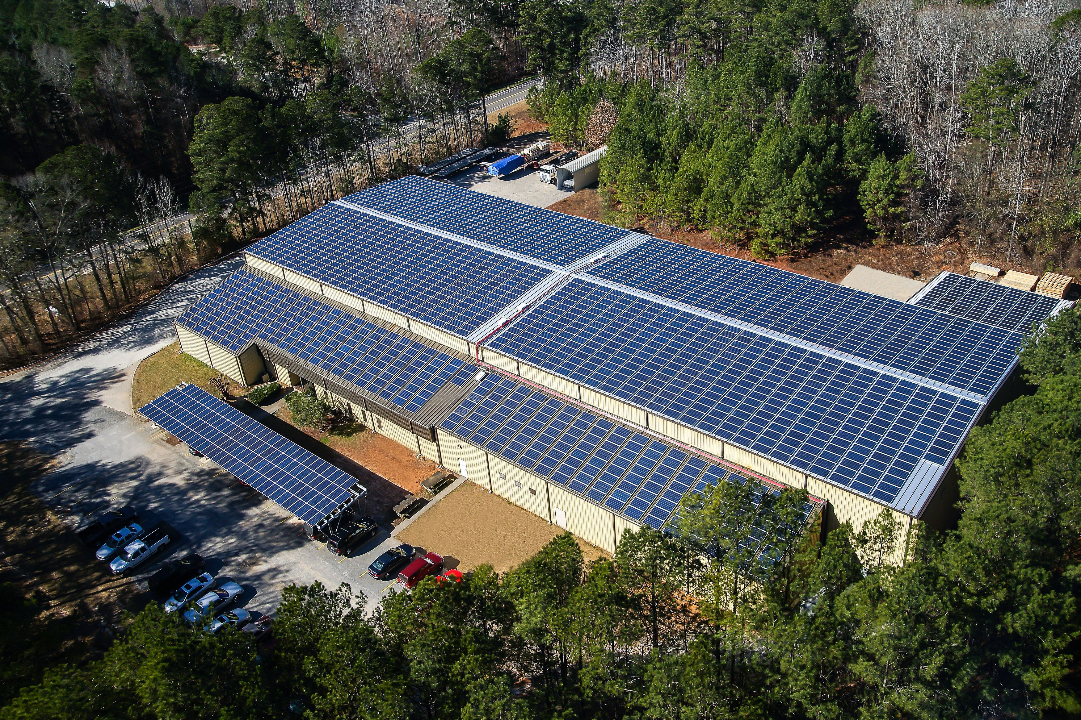 Mcelroy Metal Re Roofs Peachtree Facility Adds Solar