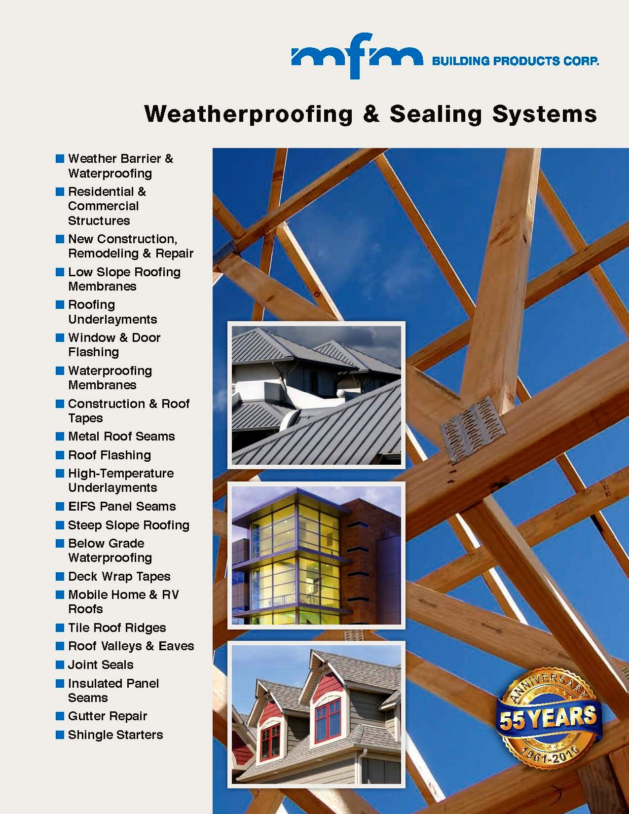 Mfm building products new brochure commercial for New roofing products