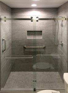 C R Laurence Frameless Bypass Sliding Shower Door System