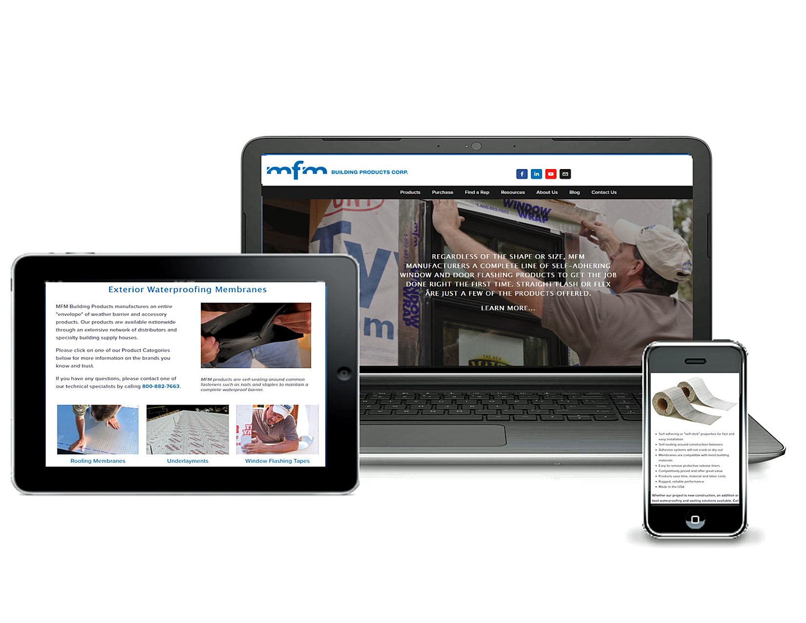 Mfm building products new website construction firm for New roofing products